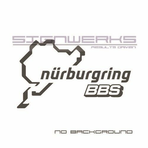 BBS Nurburgring Decal Sticker logo JDM Eurp Rims racing Pair
