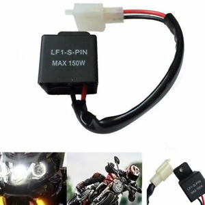 2-Pin 12V Electronic LED Flasher Relay Fix Motorcycle Turn Signal Lights-Blinker