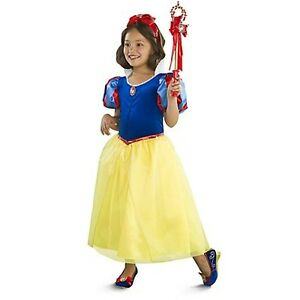Image is loading DISNEY-STORE-Princess-DELUXE-SNOW-WHITE-DRESS-COSTUME-  sc 1 st  eBay : princess snow white costume  - Germanpascual.Com