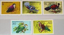 PAPUA NEUGUINEA NEW GUINEA 1977 324-28 465-69 protected Birds Vögel Tauben MNH
