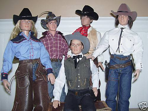 """COWBOY"" SEWING PATTERN 17"" DOLLS TONNER MATT"