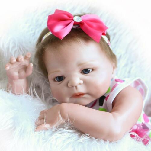 23/'/' Reborn Baby Toddler Girl Lifelike Silicone Doll Alive Newborn Toys Gift US