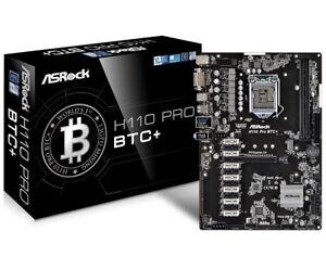 Asrock h110 pro btc+ 13 gpu mining motherboard cryptocurrency specs