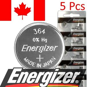 5-Pcs-Energizer-364-Watch-Battery-1-55V-SR621SW-Silver-Oxide-Batteries
