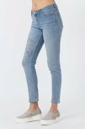 Womens stonewash jeans with floral detail from M/&S in size 12 and 14 new