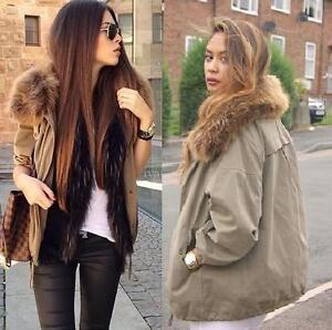 Extra Manteau Parka petits Fourrure Blogueurs Avec Veste 5149241506027 Anorak Nouveau X Khaki Zara De Col AIqvUU
