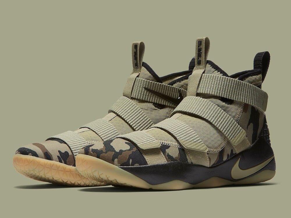 Men's Nike Lebron Soldier XI Olive Hazel Sequoia Sz 8-13 New In Box 897644-200