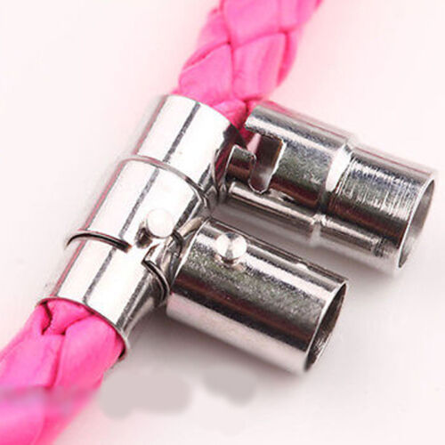 Hot 5//10X Bracelet Jewelry White K Tone Barrel Magnetic Lock Clasp Finding DIY