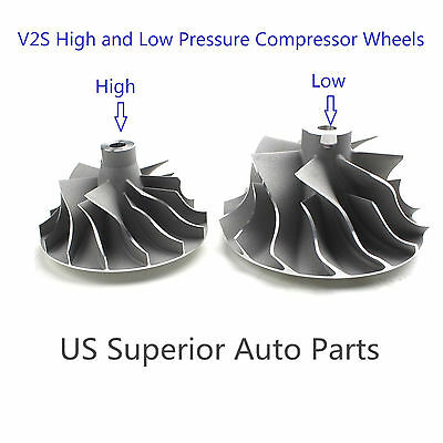2008-2010 Ford Powerstroke 6.4L Turbo High and Low Pressure Compressor Wheels