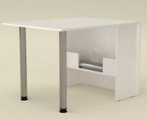Details zu Esstisch ausklappbar Klapptisch Esszimmer Küchen Tisch klappbar weiß Bürotisch