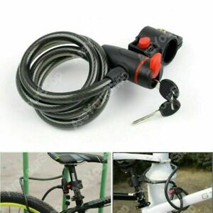 Cycling Bicycle Cable Lock Chain Steel Wire Security MTB Bike Anti-Theft Kit Key
