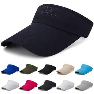 Damen-Herren-Sun-Visor-Cap-Schirmmutze-Tennis-Golfcap-Sonnenschutz-Sonnenschild