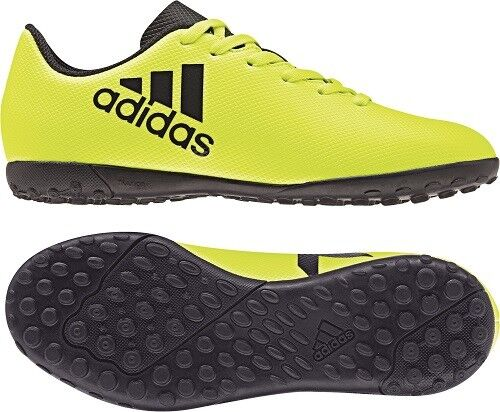 71fe9608c adidas X 17.4 Football BOOTS Childrens Astro Turf Laces Fastened Solaryellow ink  UK C11 (29) for sale online
