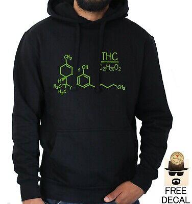 THC Marijuana Sweatshirt Cannabis Molecular  Hoodie S-3XL
