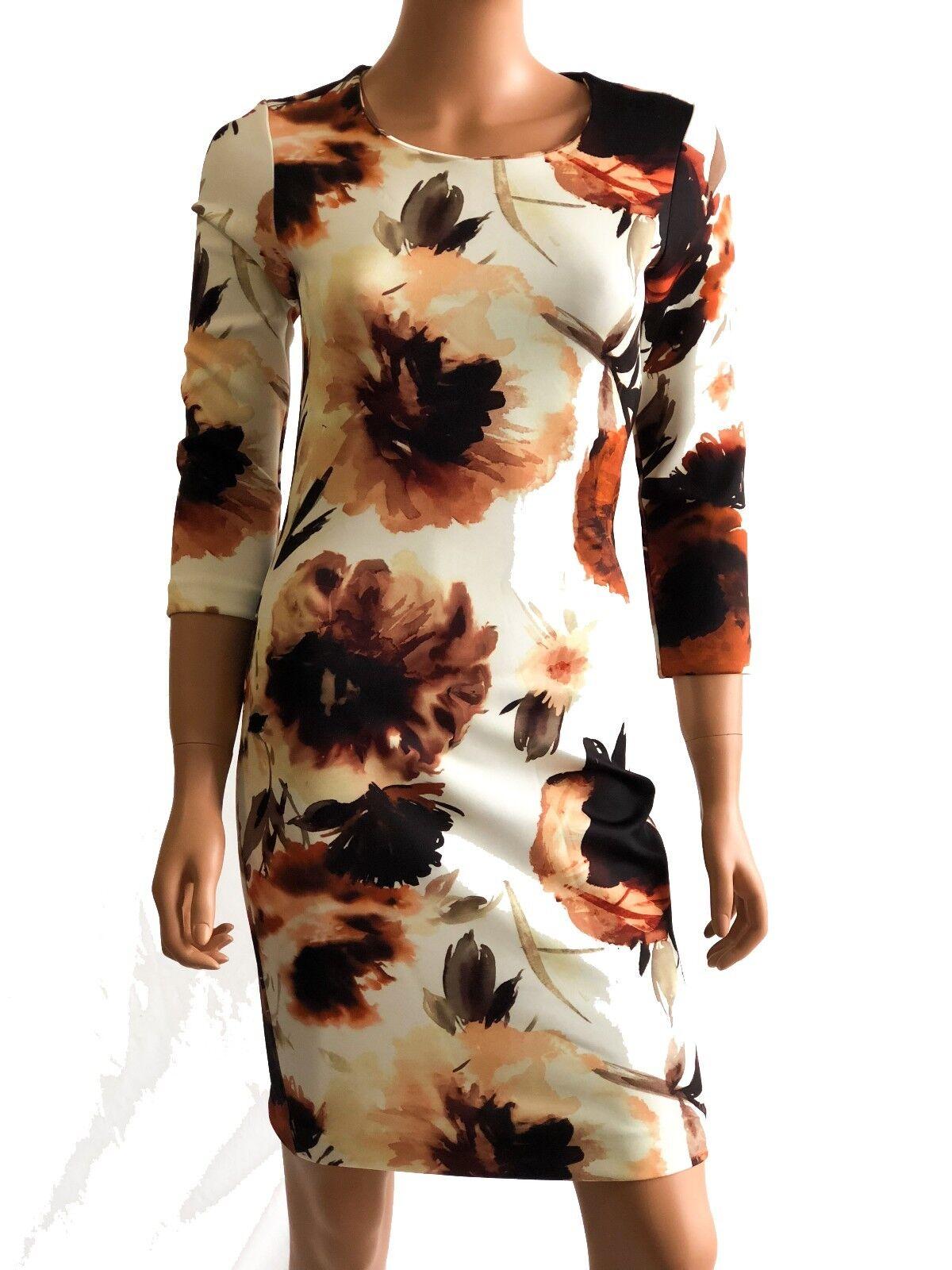 Haute Hippie Short Long Sleeve  Flower Printed Stretch  Dress   Größe S