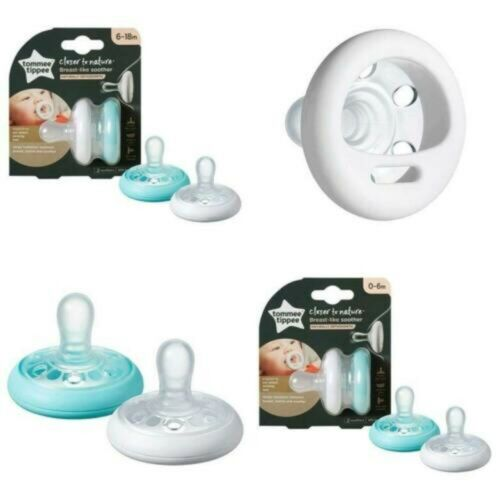 Tommee Tippee Breast Like Soothers Naturally ORTHODONTIC  0-6 Months 6-18
