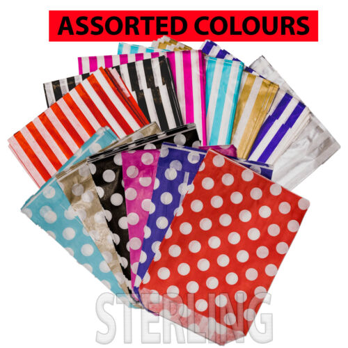 10x14 CANDY PAPER BAG STRIPED POLKA Sweet Flavour Wedding Gift Shop