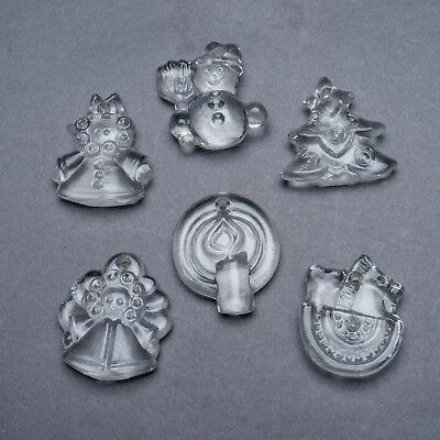 Set of 6 Vintage Goebel Crystal Christmas Ornaments West ...
