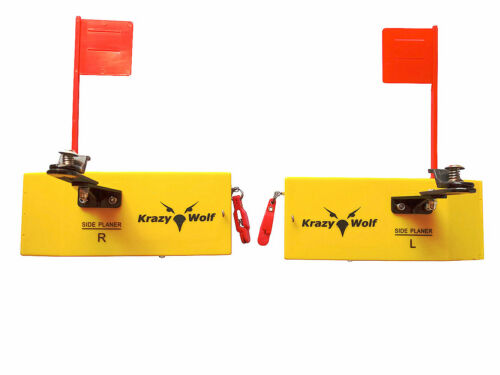 """Planer Board Flag trolling systems Left/&Right,Large,L10/""""xW3.5`` similar opti"""