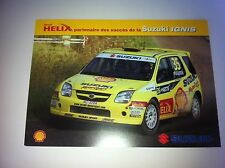 CP POSTCARD CARTOLINA SUZUKI IGNIS KATAJAMAKI RALLY RALLYE WRC 2004
