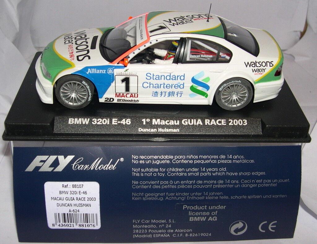 FLY 88107 A-624 SLOT CAR BMW 320I E-46  1 1º MACAO GUIDA RACE 2003