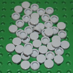 LEGO 20x Plates Round 1x1 Light Bluish Grey NEW