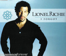 LIONEL RICHIE - I Forgot (UK 3 Track CD Single)
