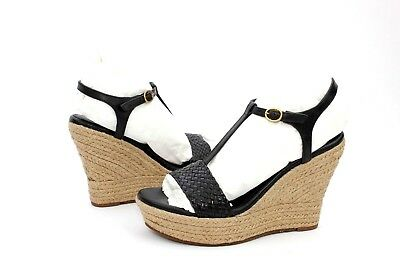 126a3d847ea UGG FITCHIE II WOVEN LEATHER BLACK COLOR PLATFORM WEDGE WOMENS SIZE ...