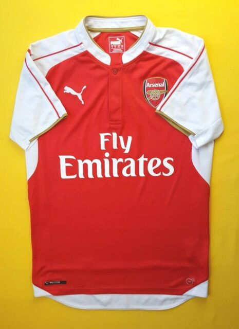 447d0a21b91 4.9 5 Arsenal jersey small 2015 2016 home shirt Puma soccer football ig93