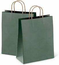 25ct Dark Teal Kraft Paper Bag Party Shopping Gift Bags With Handles 8x475x105