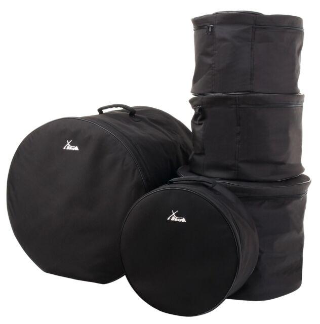XDRUM BAG CLASSIC DRUM-BAG SET 5-TEILIG FÜR SCHLAGZEUG-KESSEL GEPOLSTERT BLACK
