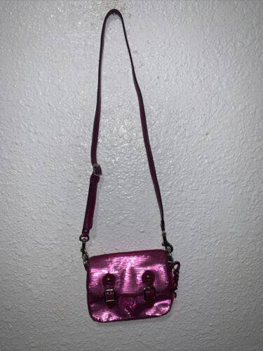 Vintage Coach Poppy Pink Sequin Iridescent Mini Fi