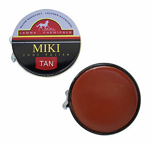 MIKI-Tan-Shoe-Polish-50-ml-Tin-Clean-And-Protect-Shoes-Boots-Trainers