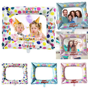 Kids-Girls-Birthday-Party-Selfie-Inflatable-Foil-Photo-Frame-Photo-Booth-Prop-Y8
