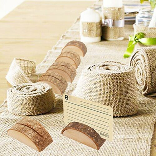 Memo Clip Name Place Card Holders Table Number Picture Note Stand Wood JH