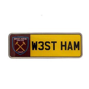 West ham united f.c - métal nombre plaque insigne-cadeau  </span>