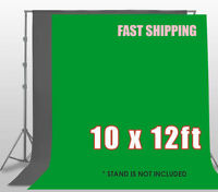 10 x 12ft Chromakey Green Gray Screen Muslin Backdrop Photo Photography Backgrou