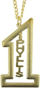 Vintage-Gold-Tone-Number-1-Name-Plate-Pendant-2-1-2-034-Necklace-22-034-Phyllis