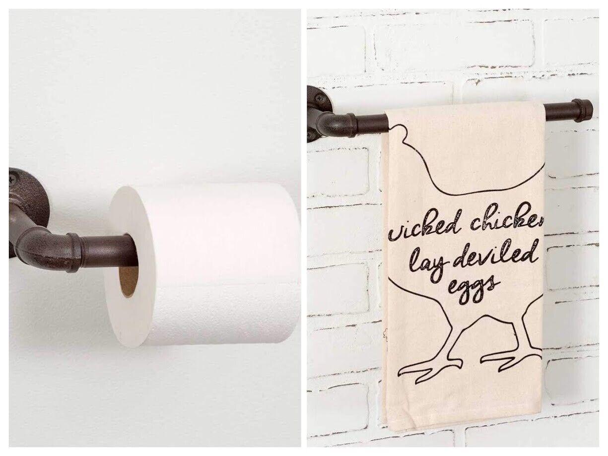 Home Improvement Old Faucet Toilet Tissue Paper Holder Hand Towel Rack Primitive Bathroom Decor Home Garden Gefradis Fr