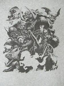 Legend-Of-Zelda-Orda-di-Mostri-amp-Warrior-su-Cavallo-Medio-Grigio-T-Shirt-C654