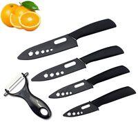 "Sharp Blade Ceramic Knife Set Chef Kitchen Knives 3"" 4"" 5"" 6"" + Peeler US Ship"