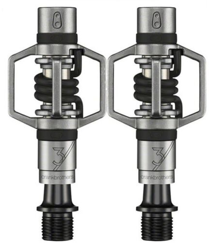 Crank Brothers Eggbeater 3 Clipless Bike XC Pedals /& Cleats Bros Black Red Blue
