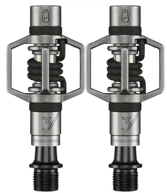 Crank Brothers Eggbeater 3 Clipless MTB Bike Pedals /& Cleats Black Red or Blue
