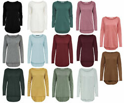 ONLY Damen Strick Pulli onlMILA LACY LONG PULLOVER NOOS Shirt oversize vokuhila