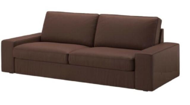 IKEA Kivik 3 Seat Sofa Cover Slipcover 103.429.65 BORRED DARK BROWN -