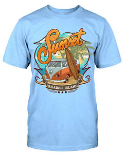 Sunset-PARAISO-Island-Camiseta-CAMISETA-DIVERTIDA-NUEVO-mycultshirt-unidades-T4