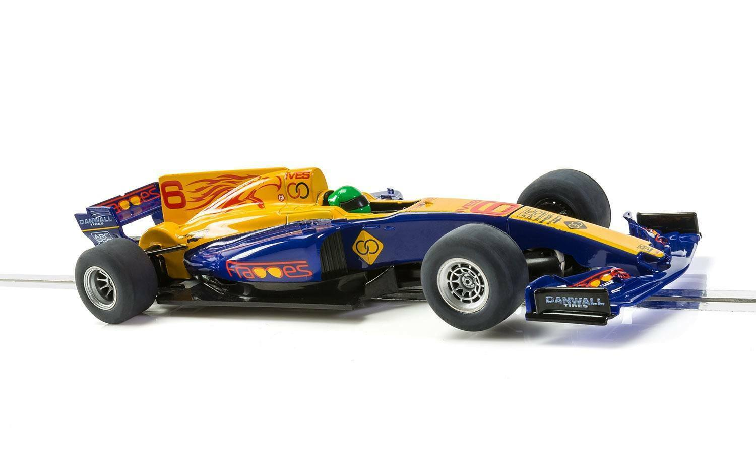 C3960 Scalextric Team F1 - bluee Wings - No.6 - New & Boxed