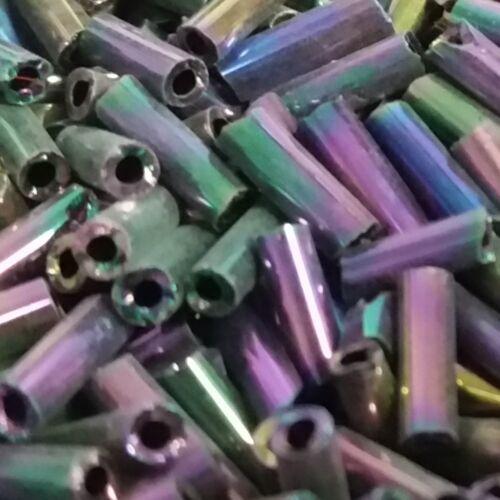 6mm x 2mm Bugle rocailles-couleurs diverses 25g