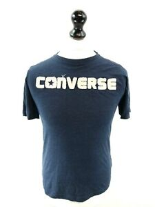 CONVERSE-Boys-T-Shirt-Top-12-13-Years-L-Large-Blue-Cotton-amp-Polyester