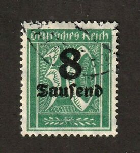Germany-stamp-242a-wmk-126-light-cancel-no-defects-geniune-CV-6000-00